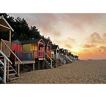 Wells Beach huts Photographic Print