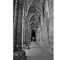 Cloister in Mono Photographic Print