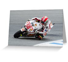 Marco Simoncelli at laguna seca 2011 Greeting Card