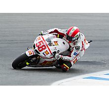 Marco Simoncelli at laguna seca 2011 Photographic Print