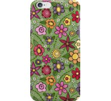 bright inky floral iPhone Case/Skin