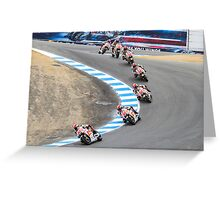 Marco Simoncelli going down the corkscrew at laguna seca 2011 Greeting Card
