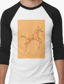 Pillow foal out and about Men's Baseball ¾ T-Shirt