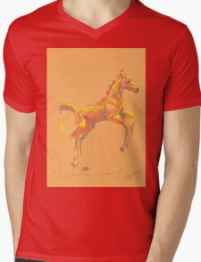 Pillow foal out and about Mens V-Neck T-Shirt