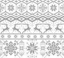 Gray Christmas knitted Pattern by artonwear