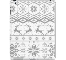 Gray Christmas knitted Pattern iPad Case/Skin