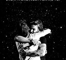 larry hug + if i could fly by Theorgasmic1975