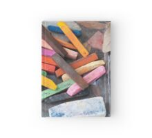 colored chalks Hardcover Journal