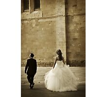 Just Married Photographic Print