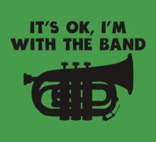It's OK I'm With The Band Tuba Kids Tee