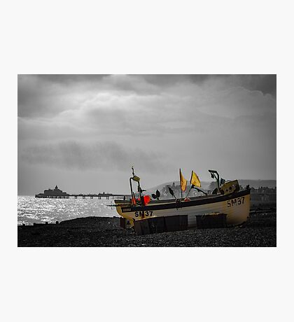 No fishing today! Eastbourne East Sussex Photographic Print