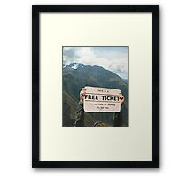 But, then again,nothing in life is Framed Print