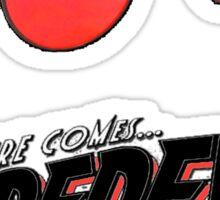 Here comes Daredevil Sticker