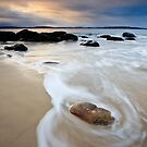 Hinsby Beach Sunrise, Tasmania #3 by Chris Cobern