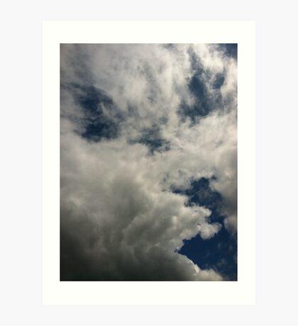 Cloud whisking Art Print