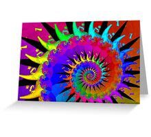 New Wave Mohawk Greeting Card
