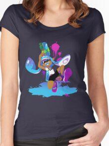 Splatoon Inkling (Cyan) Women's Fitted Scoop T-Shirt