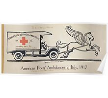 American poets ambulances in Italy 1917 Poster