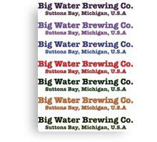 Big Water Brewing Co. Canvas Print