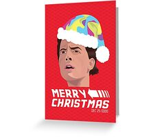 BACK TO THE FUTURE CHRISTMAS Greeting Card
