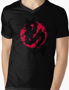 Ryu no inku Mens V-Neck T-Shirt