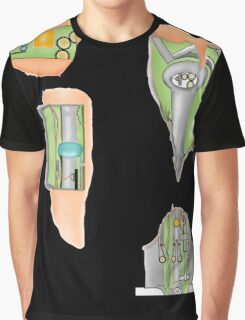 Fembot / Robot Leggings Black and other bits Graphic T-Shirt