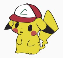 Pikachu with Ash's Hat by Cyndiee Ejanda