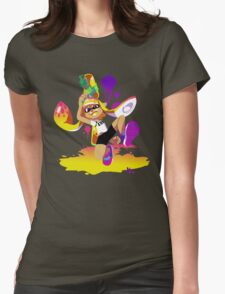 Splatoon Inkling (Yellow) Womens Fitted T-Shirt