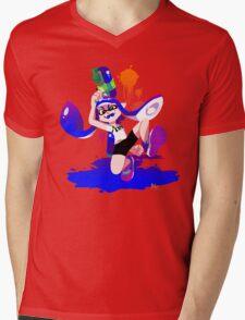 Splatoon Inkling (Blue) Mens V-Neck T-Shirt