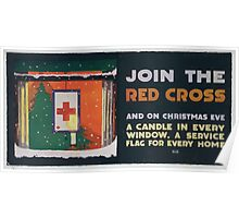 Join the Red Cross and on Christmas eve a candle in every window a service flag for every home Poster