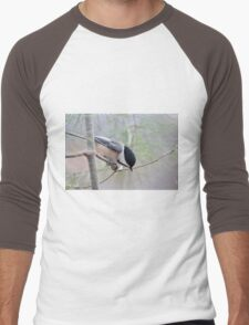 Black-capped chickadee Men's Baseball ¾ T-Shirt