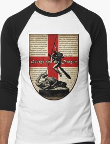 George and the Dragon (Quidditch Revised) Men's Baseball ¾ T-Shirt