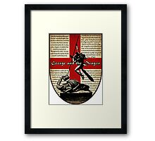 George and the Dragon (Quidditch Revised) Framed Print