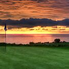 Sunset On The 18th Green by Eddie Yerkish
