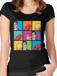 scotch & gummy bears tiles Women's Fitted Scoop T-Shirt