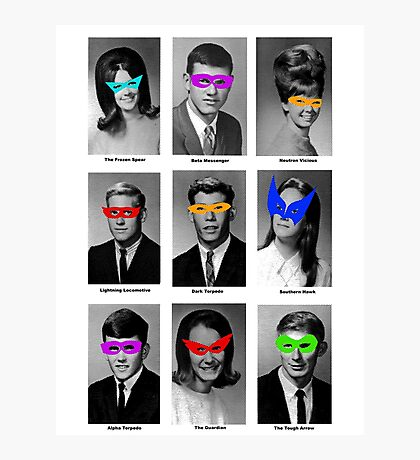Superhero Academy Photographic Print