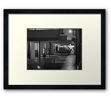 Tables in the middle Framed Print