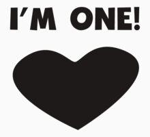 I'm One Heart Kids Tee