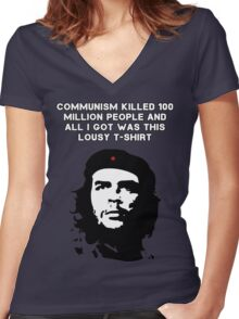 Che Guevara - Communism killed 100 million people Women's Fitted V-Neck T-Shirt