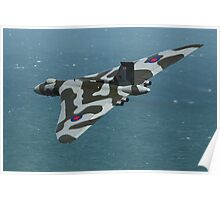 Eastbourne Airshow and the Vulcan Bomber. Poster