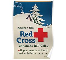 Answer the Red Cross Christmas roll call All you need is a heart and a dollar Poster