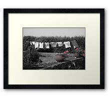 clothes in the wind Framed Print
