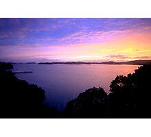 Waiheke Island Sunset Photographic Print