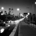 Manhattan from Brooklyn Bridge 1980s by Gary Eason + Flight Artworks