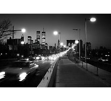 Manhattan from Brooklyn Bridge 1980s Photographic Print