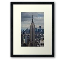 Empire State Building portrait Framed Print