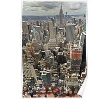 Tourists viewing downtown Manhattan Poster