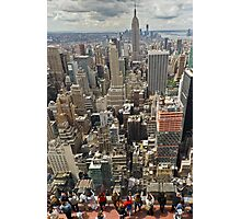 Tourists viewing downtown Manhattan Photographic Print