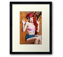 Barbie style Framed Print