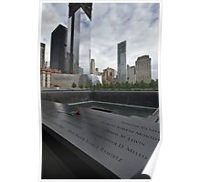 Rose at 911 Memorial Pool Poster